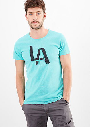 T-shirt met LA-borduursel