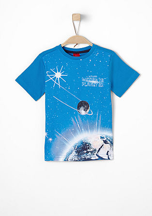 T-shirt met lichtgevende print