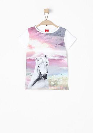 T-shirt met paardenprint