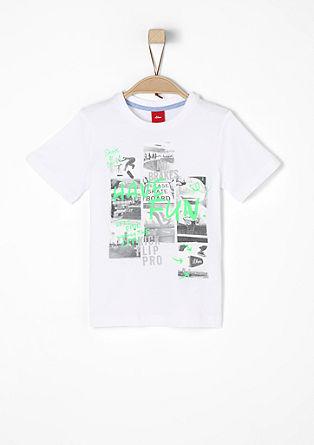 T-shirt met skatermotief