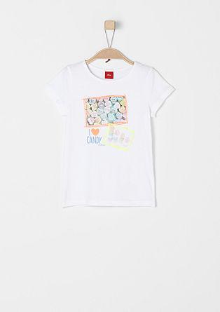T-shirt met snoepjesprint