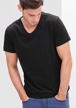 T-shirt met V-hals, set van twee