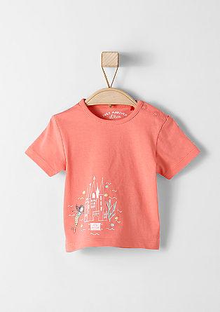 T-shirt met zeemeerminprint