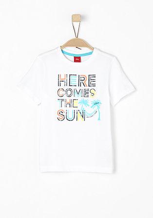 T-Shirt mit buntem Print