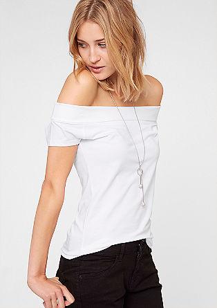 T-Shirt mit Carmen-Ausschnitt