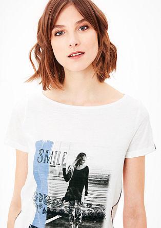 T-Shirt mit Ethno-Details