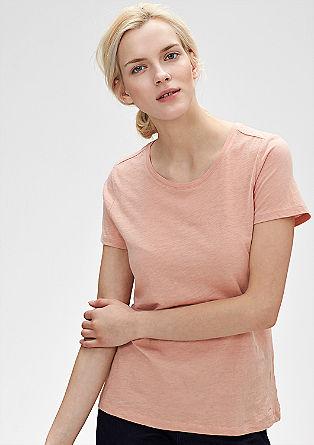 T-Shirt mit Flammgarn-Effekt