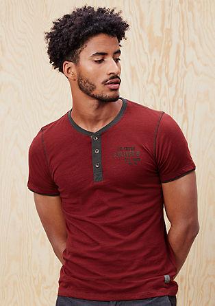 T-Shirt mit Flammgarn-Streifen