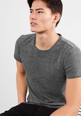 T-Shirt mit Flammgarn-Struktur