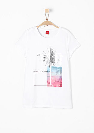 T-Shirt mit Glanzprint
