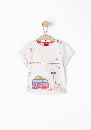 T-Shirt mit Glitzerdetails
