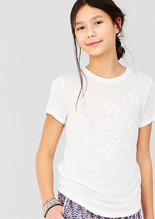 T-Shirt mit gummiertem Print