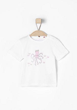 T-Shirt mit Kraken-Druck