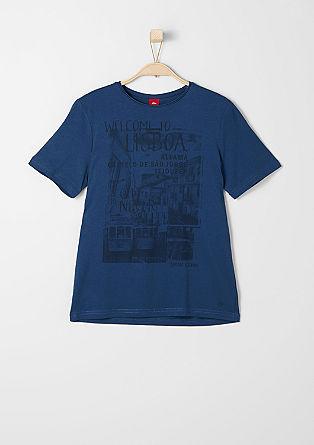 T-Shirt mit Lissabon-Print