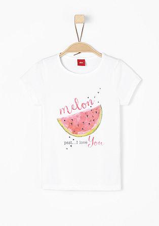 T-Shirt mit Melonen-Motiv