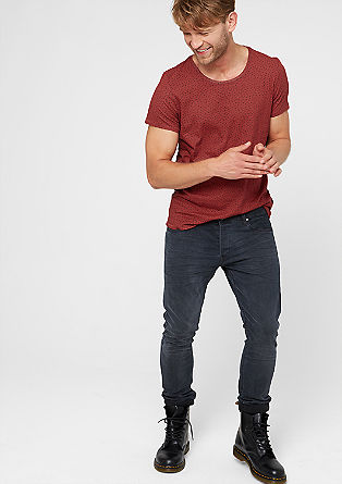 T-Shirt mit Mini-Muster