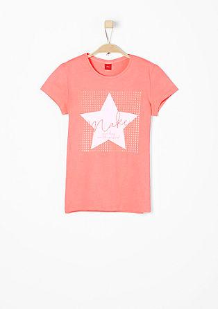 T-Shirt mit Neon-Akzenten