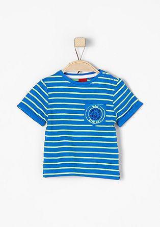 T-Shirt mit Neon-Ringeln