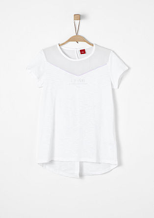 T-Shirt mit Pailletten-Details