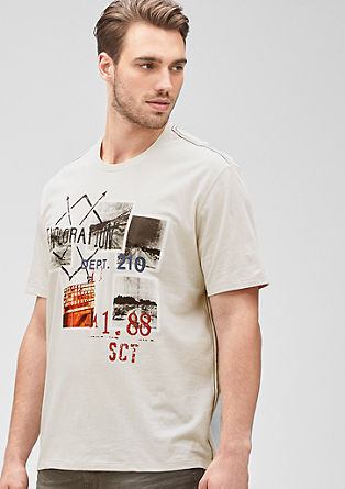 T-Shirt mit Print-Collage