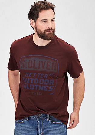 T-Shirt mit Print in Stempel-Optik