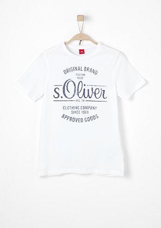 T-Shirt mit s.Oliver Singature-Print
