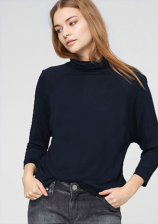 T-Shirt mit Schlauchkragen