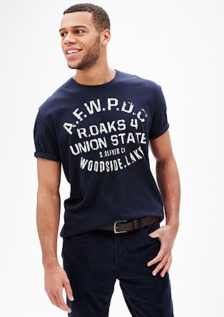 T-Shirt mit Schriftprint