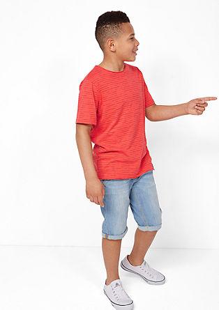 T-Shirt mit Streifen-Effekt