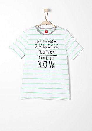 T-Shirt mit Streifenstruktur