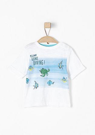 T-Shirt mit Unterwasserprint