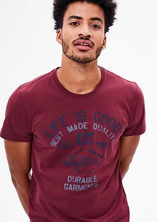 T-Shirt mit Used-Print