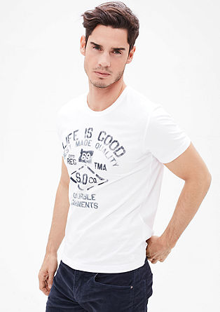 T-Shirt mit Used-Print