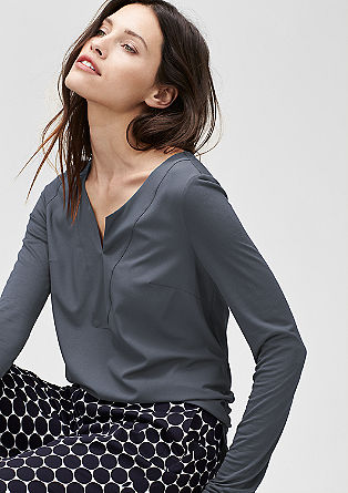 T-shirt with a blouse front from s.Oliver