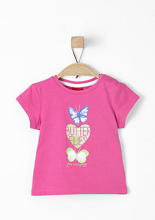 T-shirt with a butterfly print from s.Oliver
