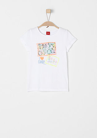 T-shirt with a candy print from s.Oliver