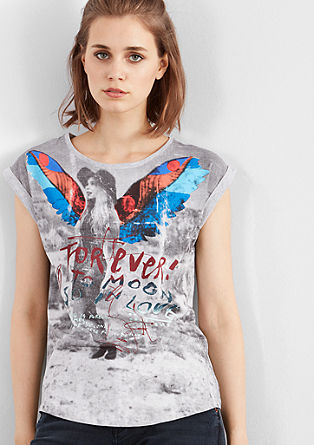 T-shirt with a collage print from s.Oliver