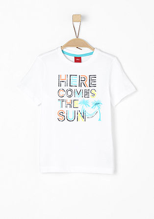 T-shirt with a colourful print from s.Oliver