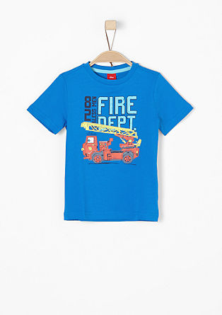 T-shirt with a fire brigade motif from s.Oliver