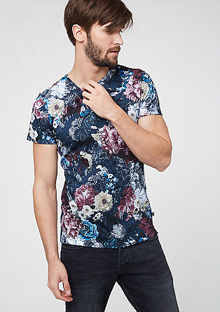T-shirt with a floral print from s.Oliver