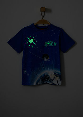 T-shirt with a glow in the dark print from s.Oliver