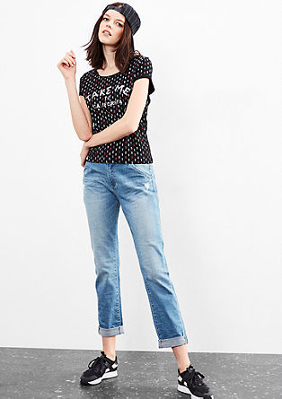 T-shirt with a minimalist pattern from s.Oliver