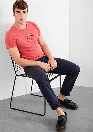 T-shirt with a printed logo from s.Oliver