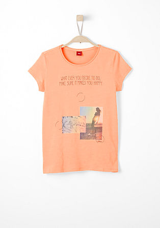 T-shirt with a romantic print from s.Oliver
