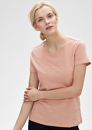 T-shirt with a slub yarn effect from s.Oliver