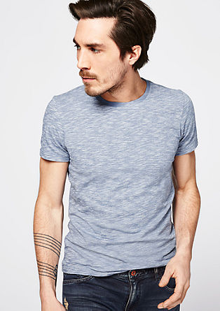 T-shirt with a slub yarn finish from s.Oliver
