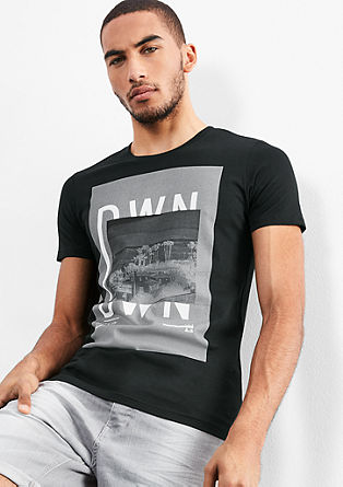 T-shirt with a striking print from s.Oliver