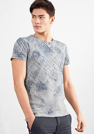 T-shirt with a textured pattern from s.Oliver