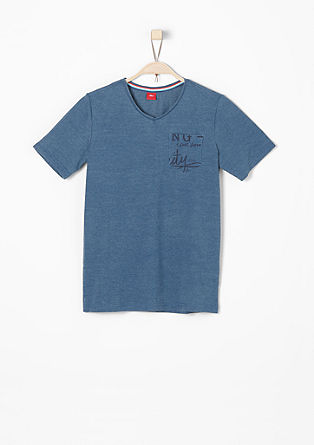 T-shirt with a V-neckline from s.Oliver