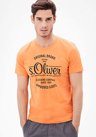 T-shirt with a vintage logo from s.Oliver